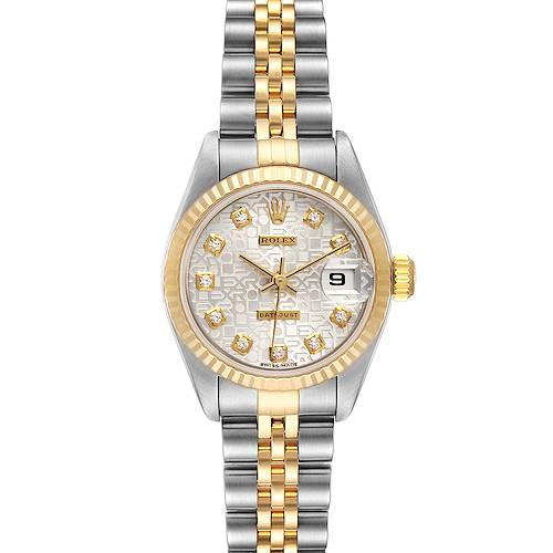 Photo of Rolex Datejust Steel Yellow Gold Diamond Dial Ladies Watch 79173 Papers