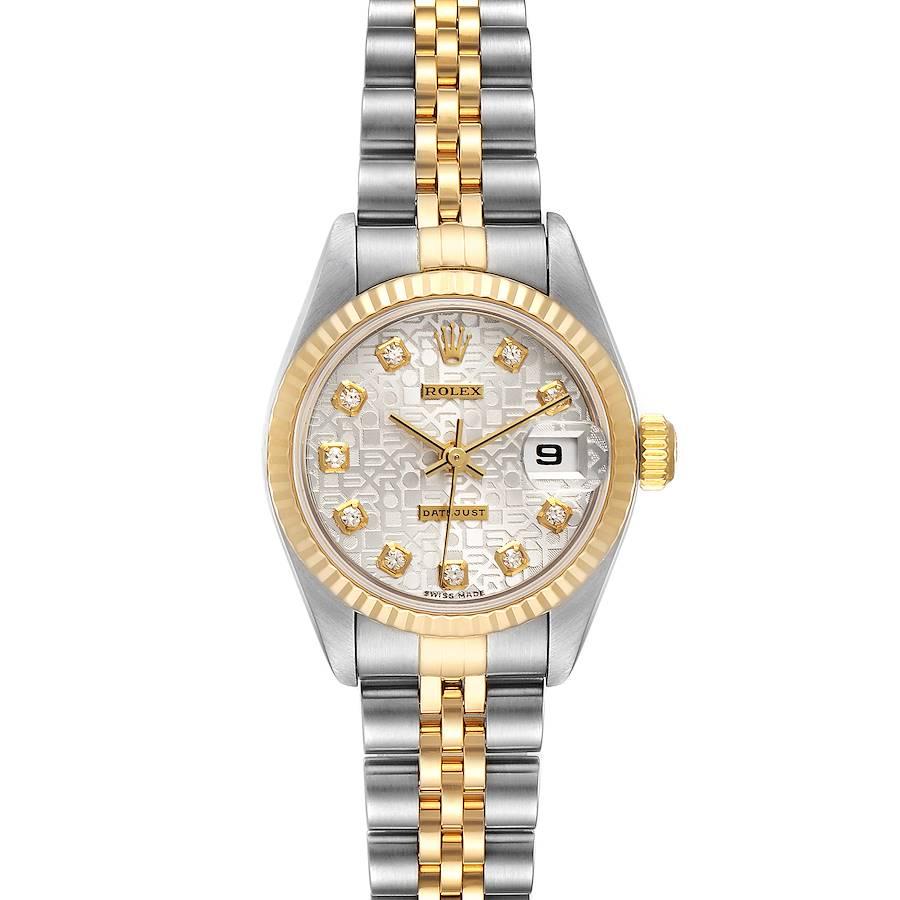 Rolex Datejust Steel Yellow Gold Diamond Dial Ladies Watch 79173 Papers SwissWatchExpo