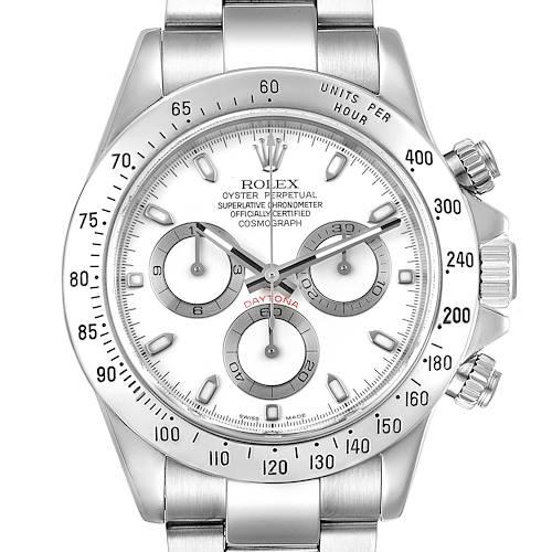 Photo of Rolex Daytona White Dial Chronograph Steel Mens Watch 116520
