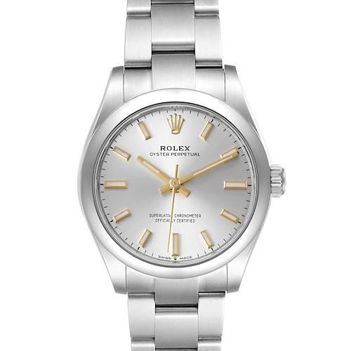 Photo of Rolex Midsize 31mm Silver Dial Automatic Steel Ladies Watch 277200 Unworn