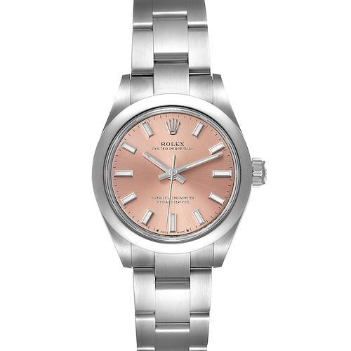 Photo of Rolex Oyster Perpetual 28mm Pink Dial Steel Ladies Watch 276200 Unworn