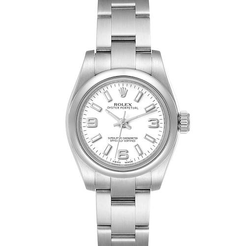 Photo of Rolex Oyster Perpetual Nondate White Dial Ladies Watch 176200 Box Card
