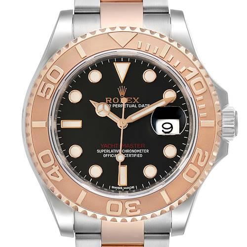 Photo of Rolex Yachtmaster 40 Everose Gold Steel Black Dial Mens Watch 116621