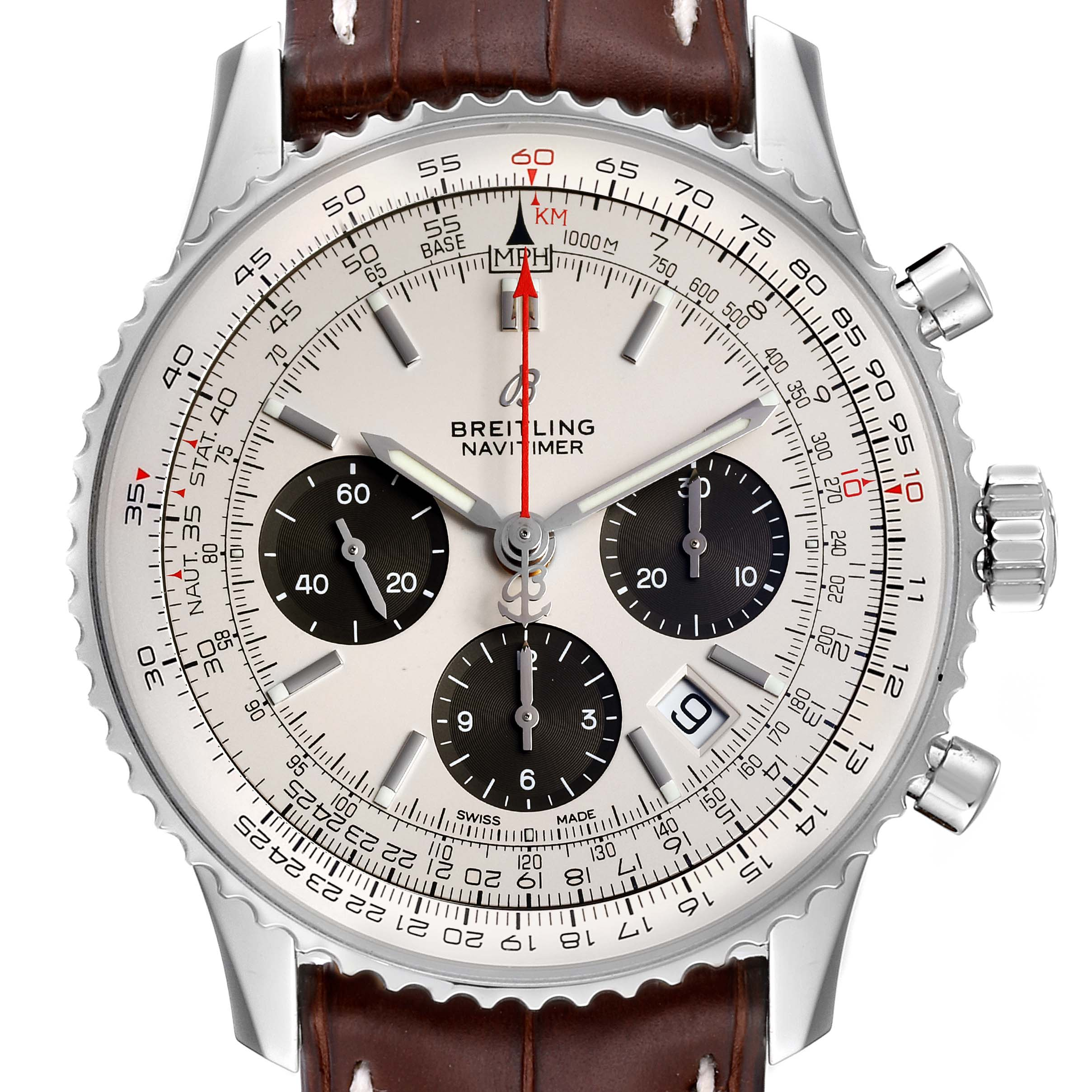 Breitling Navitimer 01 Panda Dial Automatic Steel Mens Watch AB0120 Box Papers PARTIAL PAYMENT SwissWatchExpo