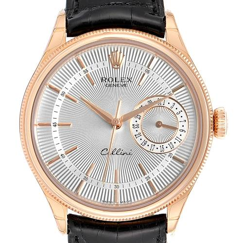 Photo of Rolex Cellini Date Everose Gold Silver Dial Automatic Watch 50515 Unworn