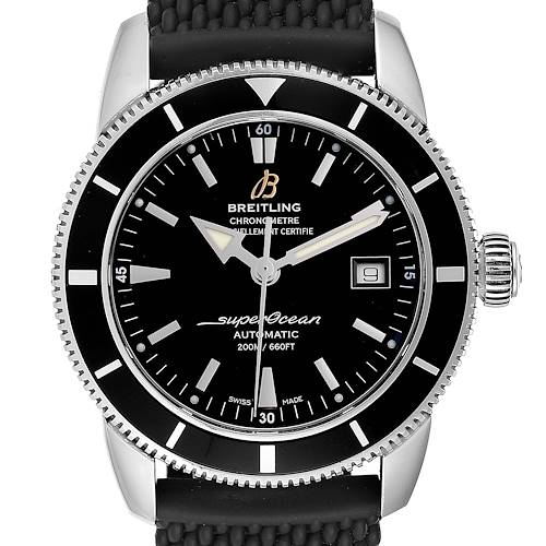 Breitling Superocean Heritage 42 Black Dial Steel Mens Watch A17321
