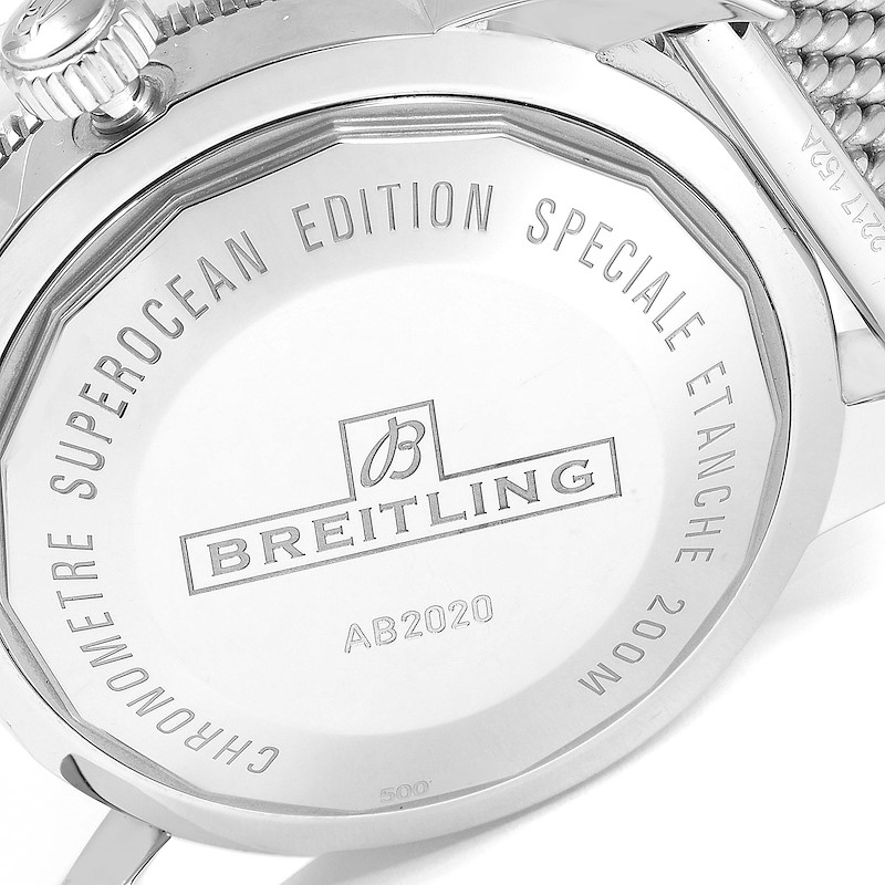 Breitling Superocean Heritage 46 Silver Dial Mens Watch AB2020 Box Card SwissWatchExpo