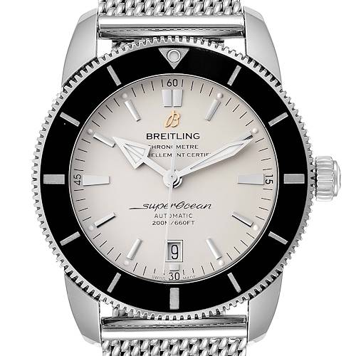 Photo of Breitling Superocean Heritage 46 Silver Dial Mens Watch AB2020 Box Card