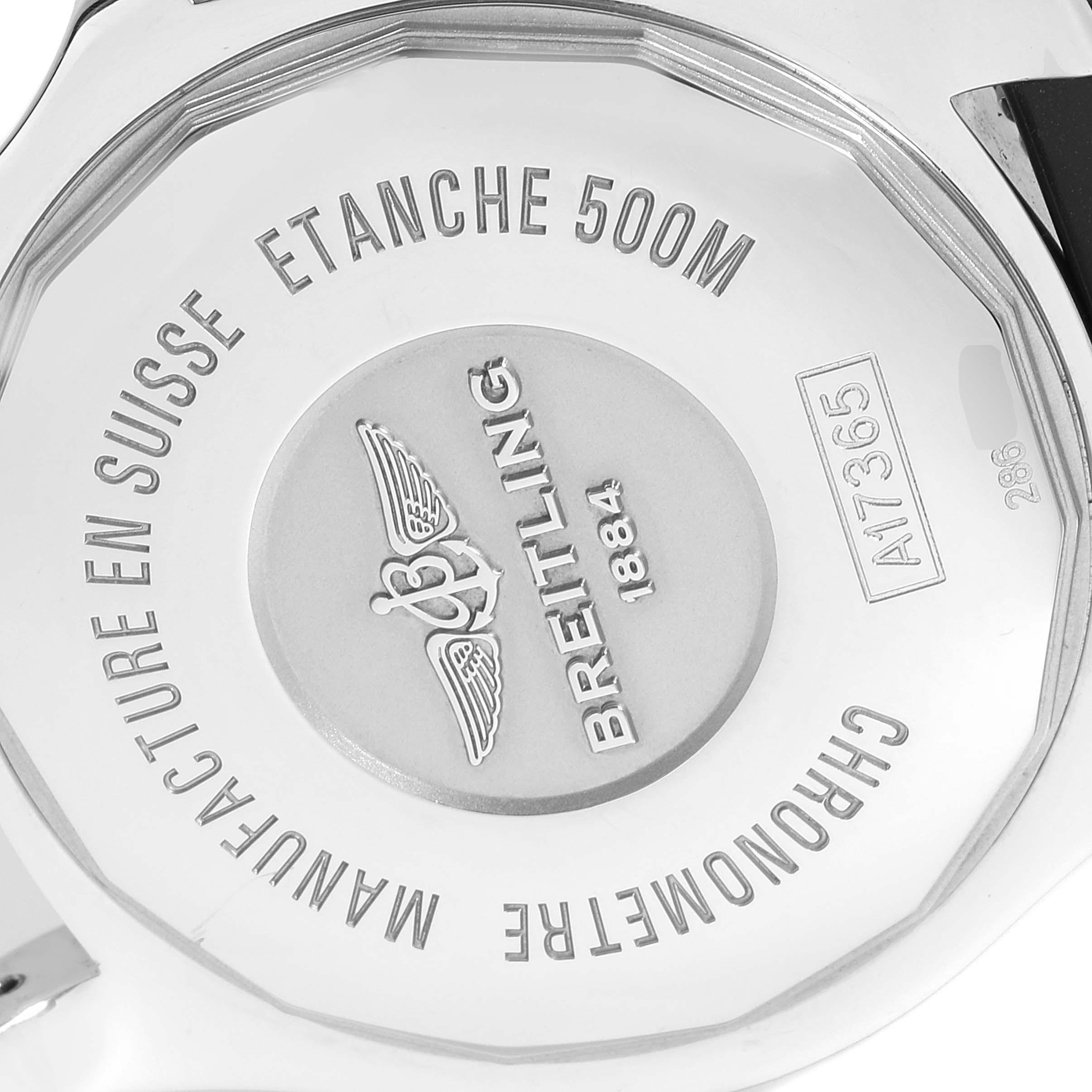 Breitling Superocean II Black Dial Steel Mens Watch A17365 Box Card SwissWatchExpo