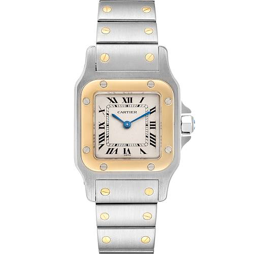 Photo of Cartier Santos Galbee Steel Yellow Gold Ladies Watch 166930 Box Papers