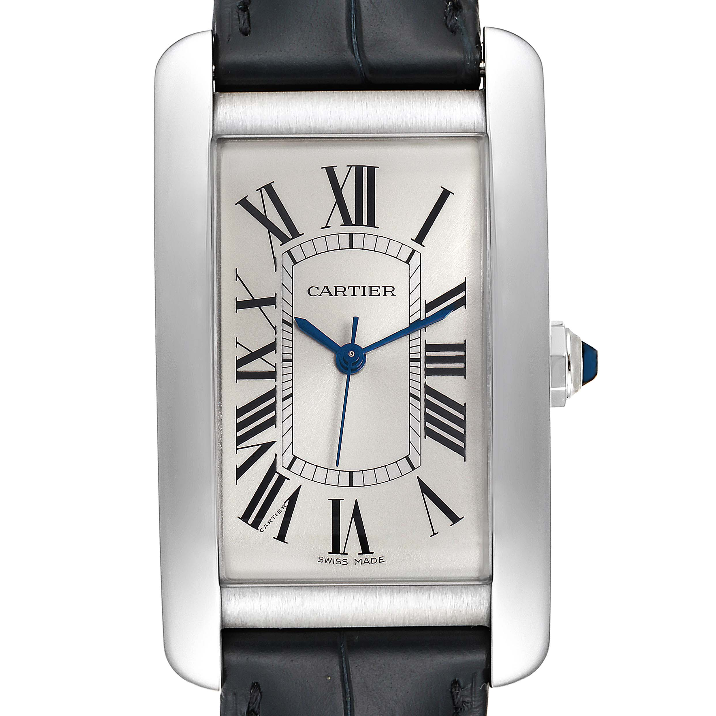 Photo of Cartier Tank Americaine Stainless Steel Large Mens Watch WSTA0018 Box Papers