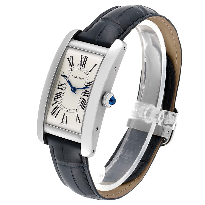 Cartier Tank Americaine Stainless Steel Large Mens Watch WSTA0018 SwissWatchExpo