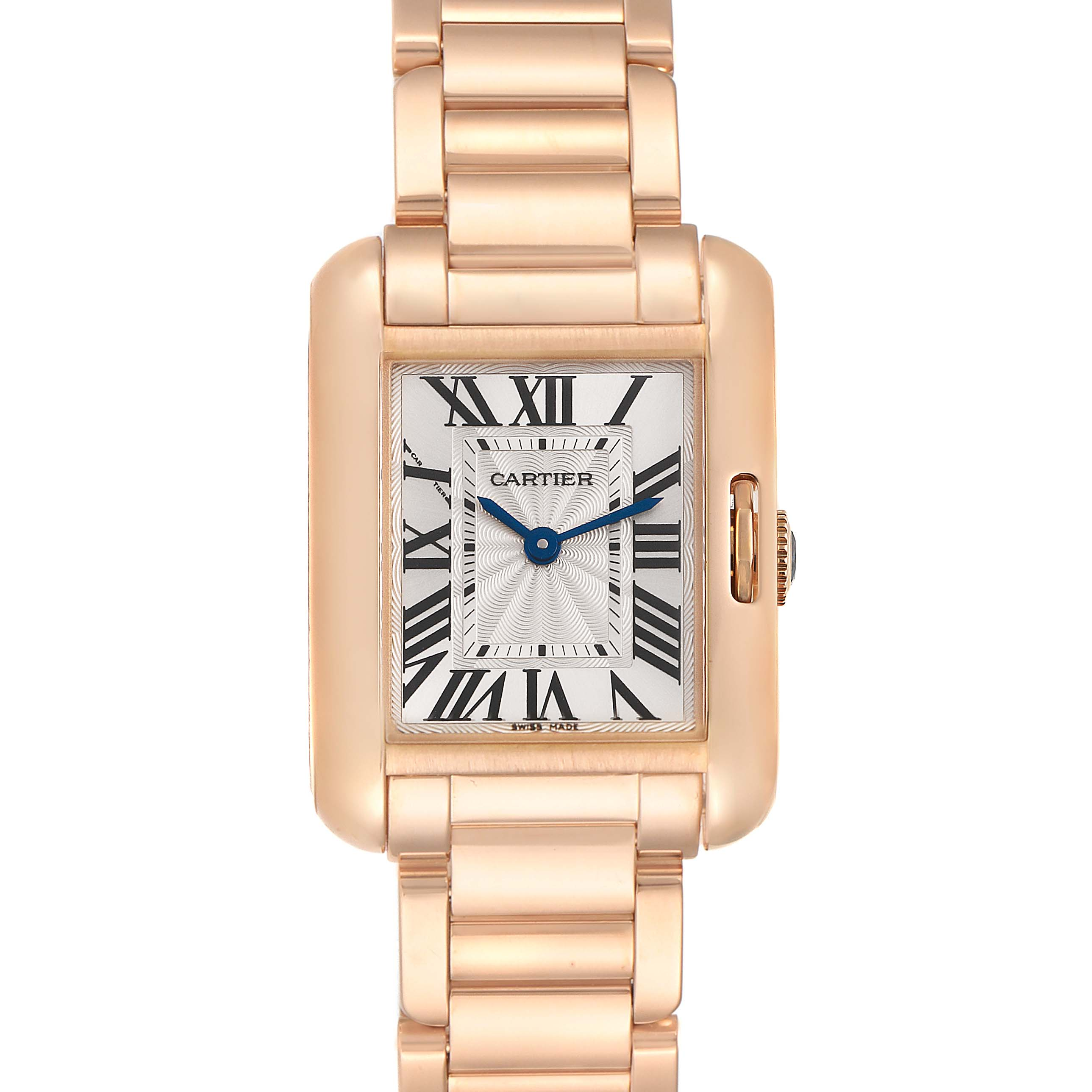 Photo of Cartier Tank Anglaise Small Silver Dial Rose Gold Ladies Watch W5310013