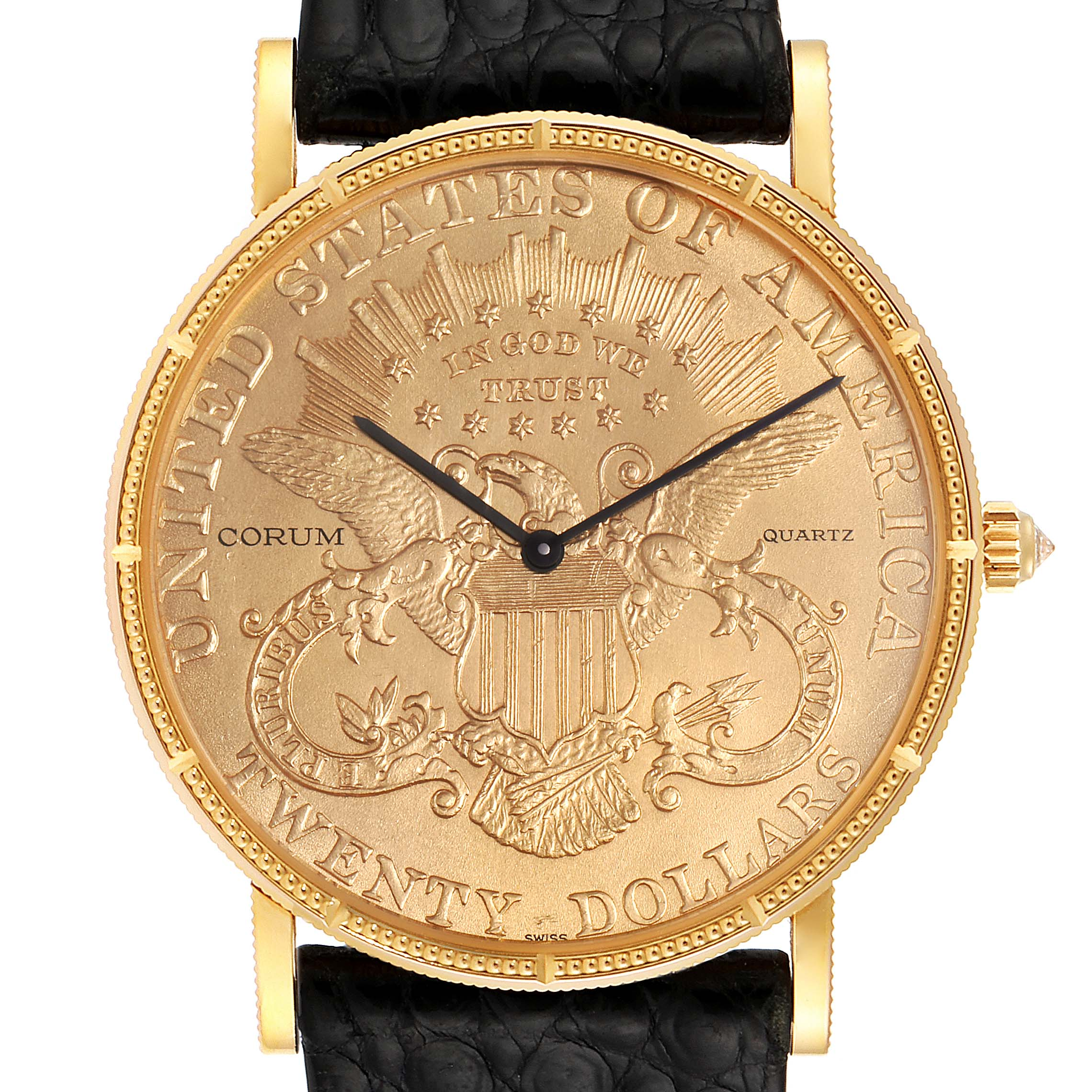 Corum 20 Dollars Double Eagle Yellow Gold Coin Year 1896 Mens Watch