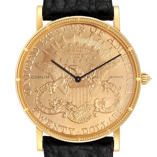 Photo of Corum 20 Dollars Double Eagle Yellow Gold Coin Year 1896 Mens Watch