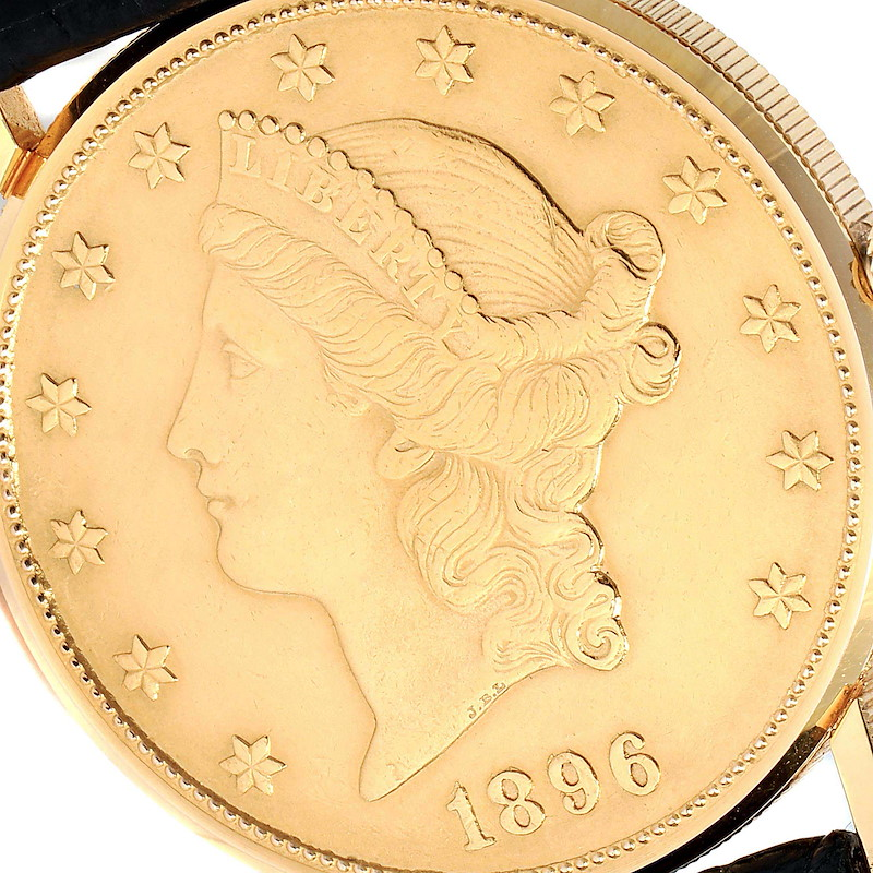 Corum 20 Dollars Double Eagle Yellow Gold Coin Year 1896 Mens Watch SwissWatchExpo
