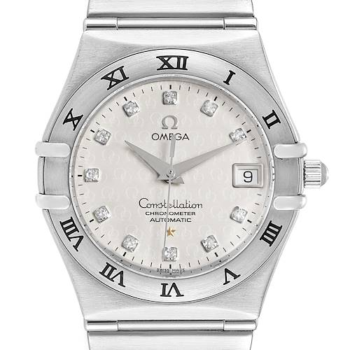 Photo of Omega Constellation Classic Steel Diamond Mens Watch 1504.35.00