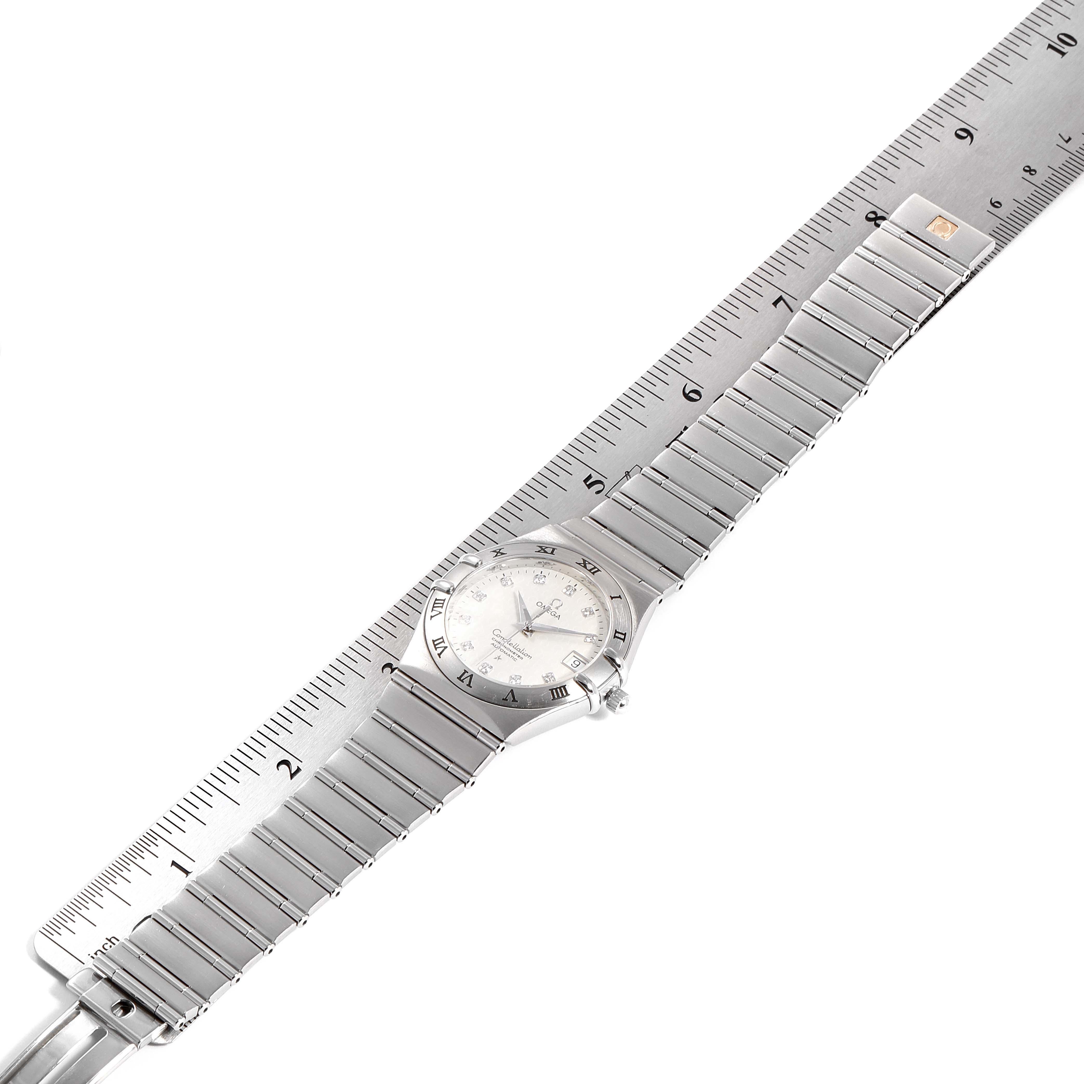 Omega Constellation Classic Steel Diamond Mens Watch 1504.35.00 SwissWatchExpo
