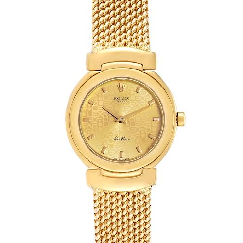 Photo of Rolex Cellini Yellow Gold Mesh Bracelet Ladies Watch 6621 Box Papers