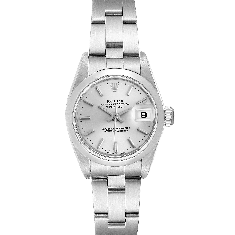 Rolex Date Silver Dial Oyster Bracelet Steel Ladies Watch 79160