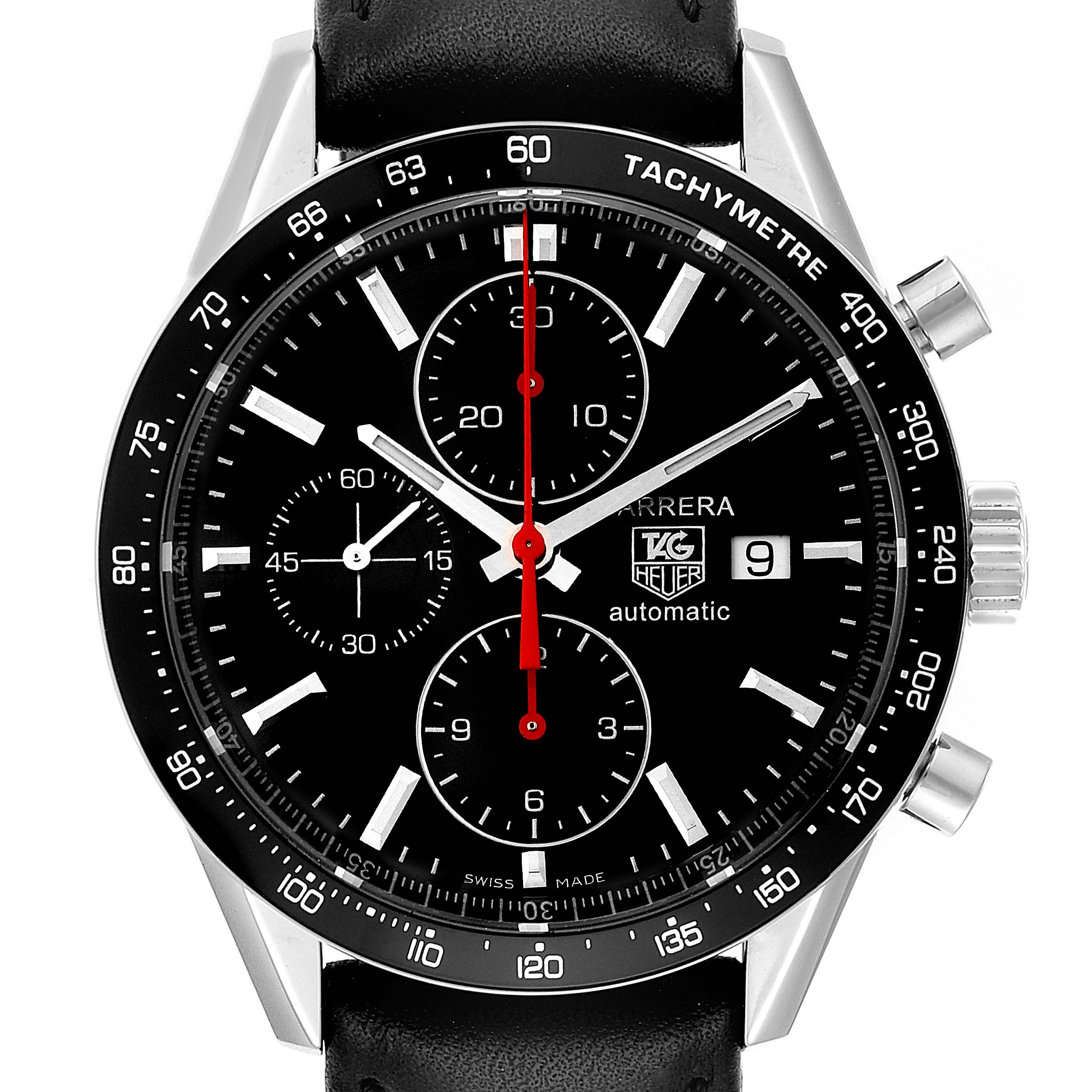 Photo of Tag Heuer Carrera Black Dial Chronograph Mens Watch CV2014