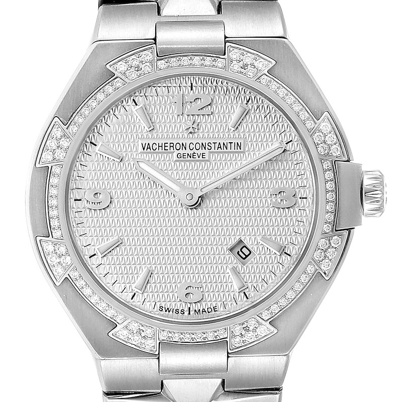 Vacheron Constantin Overseas 34 Steel Diamond Ladies Watch 25750 SwissWatchExpo