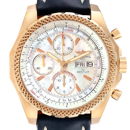 Photo of Breitling Bentley Continental GT Rose Gold MOP Dial Mens Watch H13363