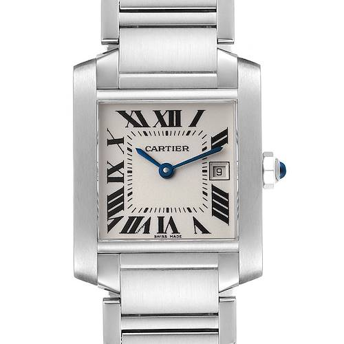Photo of Cartier Tank Francaise Midsize 25mm Silver Dial Ladies Watch W51011Q3