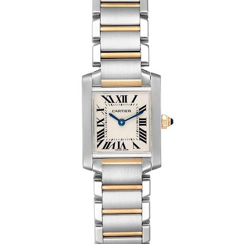 Photo of Cartier Tank Francaise Steel Yellow Gold Small Ladies Watch W51007Q4