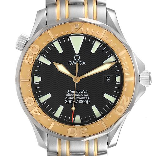 Photo of Omega Seamaster Steel Yellow Gold Automatic Mens Watch 2455.50.00 Box Card