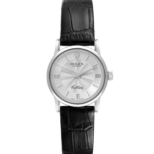 Photo of Rolex Cellini Classic White Gold Silver Dial Ladies Watch 6111 Papers