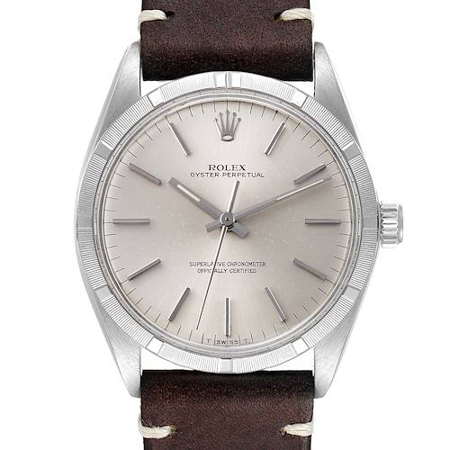 Photo of Rolex Oyster Perpetual Silver Dial Vintage Steel Mens Watch 1003