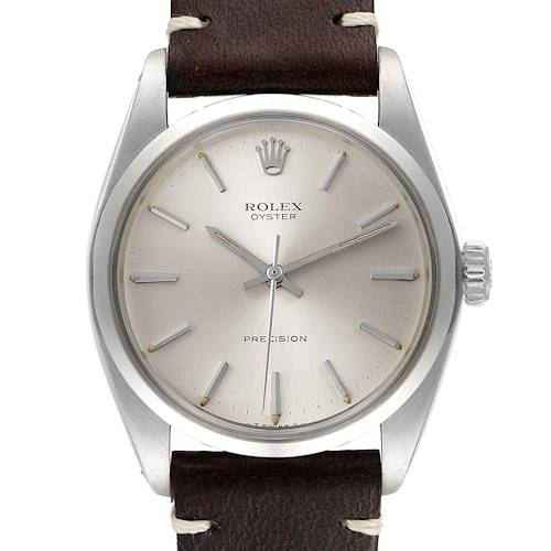 Photo of Rolex Precision Vintage Stainless Steel Silver Dial Mens Watch 6426