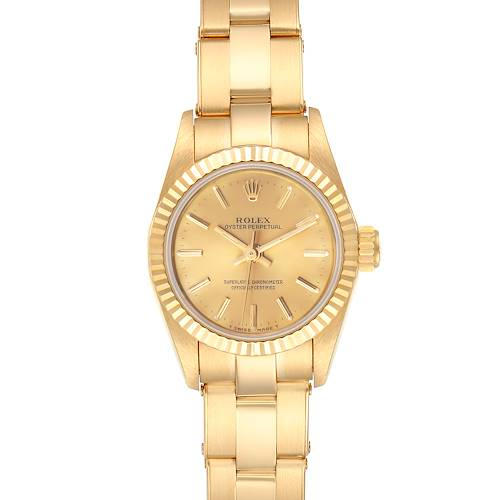 Photo of Rolex President No-Date 18K Yellow Gold Ladies Watch 67198