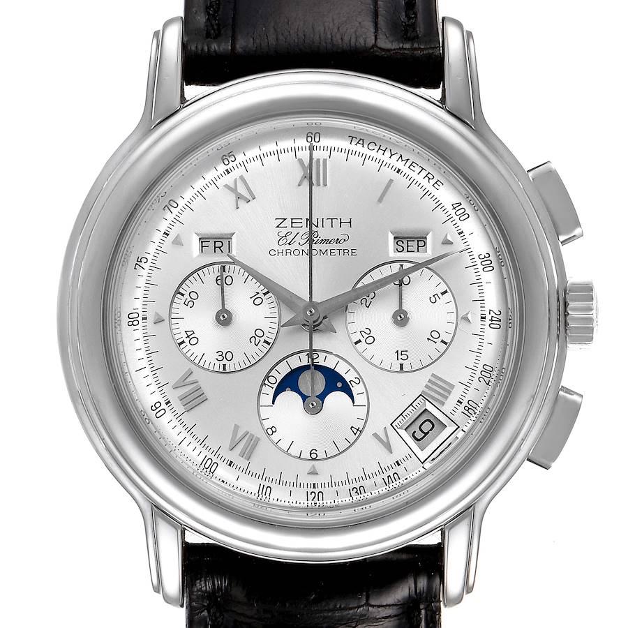 Zenith Chronomaster El Primero MoonPhase Triple Calendar Watch 01.0240.410 SwissWatchExpo