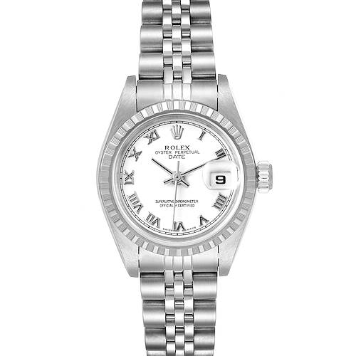 Photo of Rolex Date White Dial Jubilee Bracelet Ladies Watch 79240 Box Papers