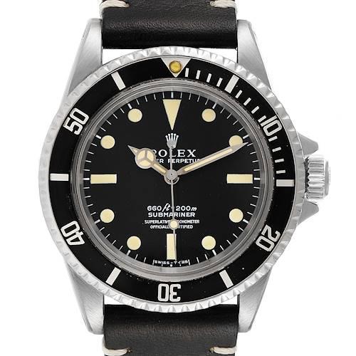 Photo of Rolex Submariner Black Dial Vintage  Steel Mens Watch 5512