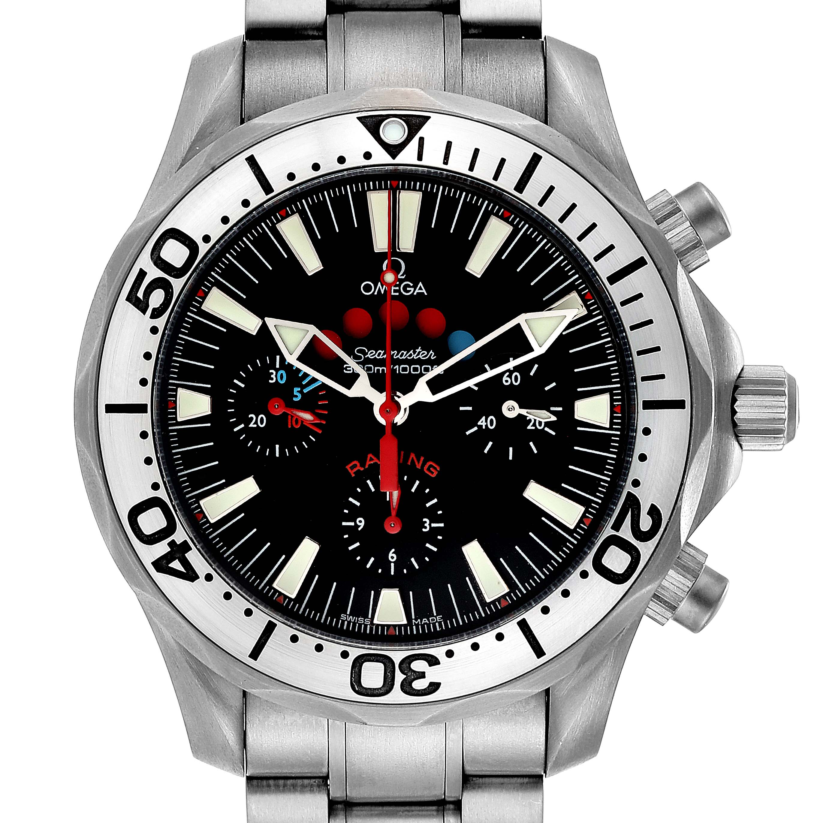 Omega Seamaster Regatta Racing Titanium Mens Watch 2269.52.00 Card