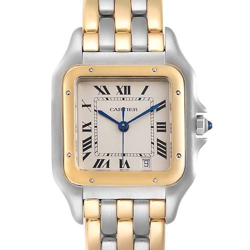 Photo of Cartier Panthere Large Steel 18K Yellow Gold Three Row Watch W25028B6