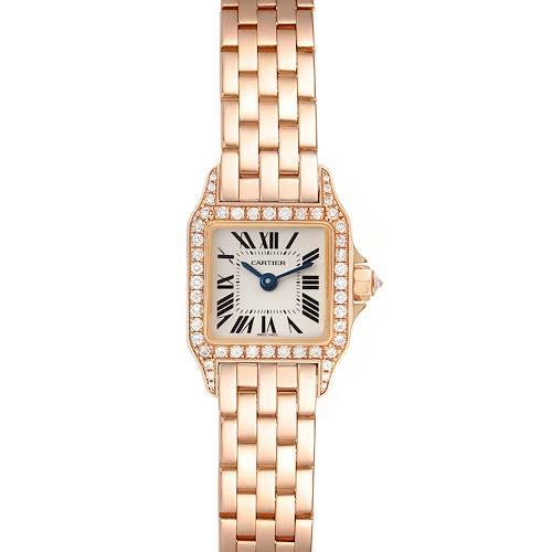 Photo of Cartier Santos Demoiselle Mini Rose Gold Diamond Ladies Watch WF9011Z8