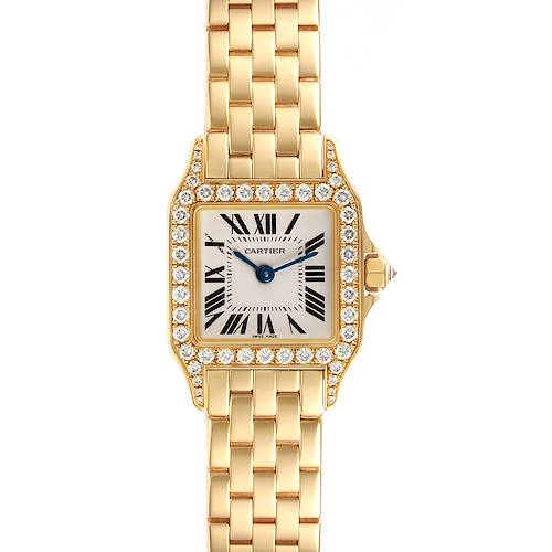 Photo of Cartier Santos Demoiselle Yellow Gold Diamond Ladies Watch WF9001Y7