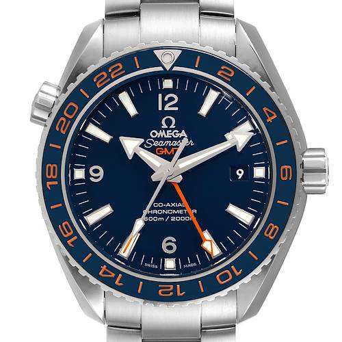 Photo of Omega Seamaster Planet Ocean GMT Mens Watch 232.30.44.22.03.001 Box Card