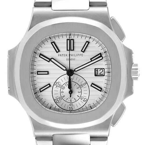 Photo of Patek Philippe Nautilus White Dial Steel Mens Watch 5980 Box Papers
