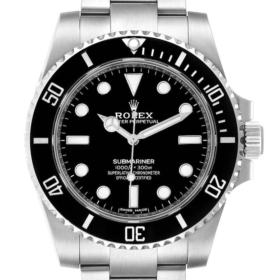 Rolex Submariner 40mm Black Dial Ceramic Bezel Steel Watch 114060 Box Card SwissWatchExpo