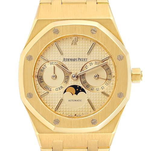 Photo of Audemars Piguet Royal Oak Yellow Gold Day Date Moonphase Mens Watch 25594