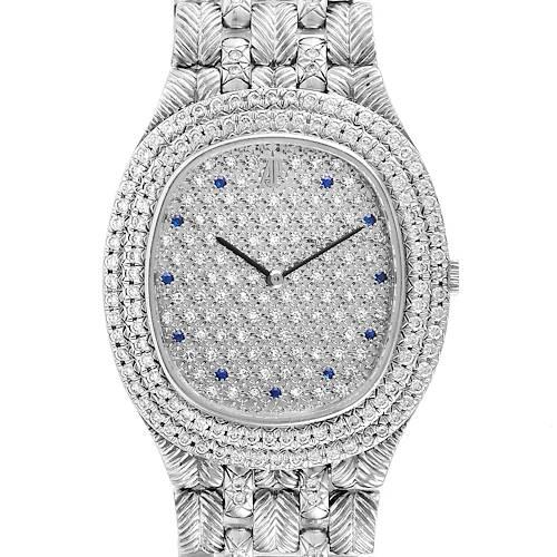 Photo of Audemars Piguet White Gold Sapphire Diamond Dial Unisex Watch 56478