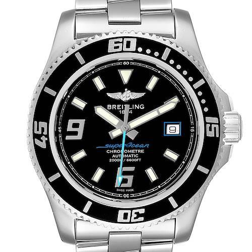 Photo of Breitling Aeromarine Superocean 44 Blue Hand Steel Mens Watch A17391