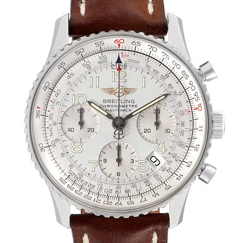 Photo of Breitling Navitimer Silver Dial Chronograph Steel Mens Watch A23322 Unworn