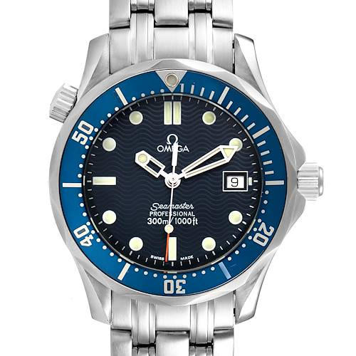 Photo of Omega Seamaster Bond 36 Midsize Blue Dial Steel Mens Watch 2561.80.00