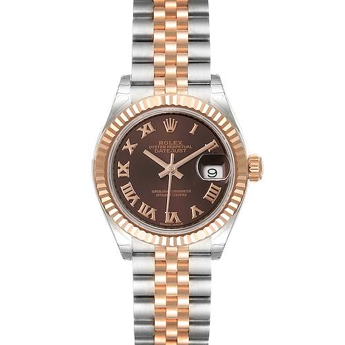 Photo of Rolex Datejust 28 Everose Rolesor Brown Dial Ladies Watch 279171 Unworn